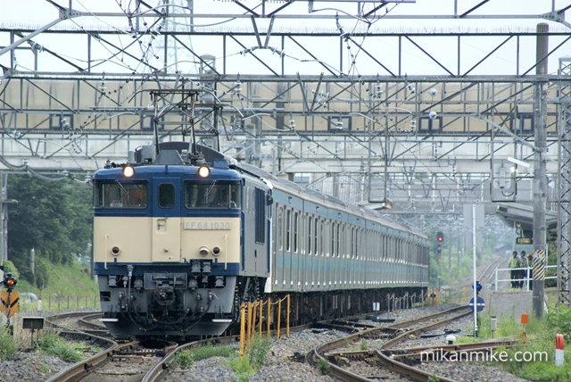 209系ウラ51編成 牽引はEF64-1030