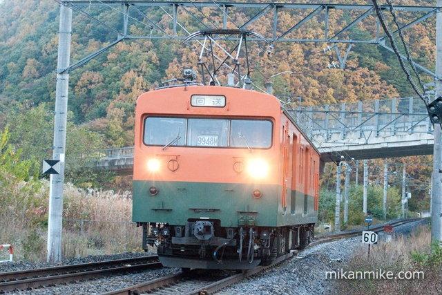 クモヤ143 篠ノ井線霜取り列車