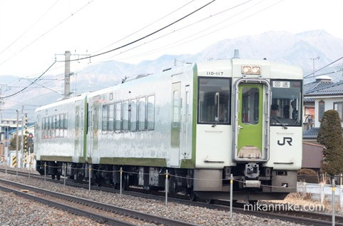 キハ110系 110-117と110-119