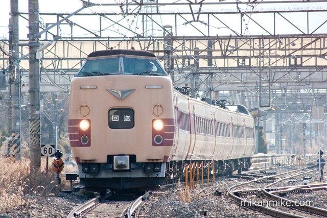 381系日根野車 長野へ回送
