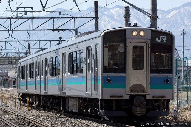 E127系 篠ノ井線ワンマン列車