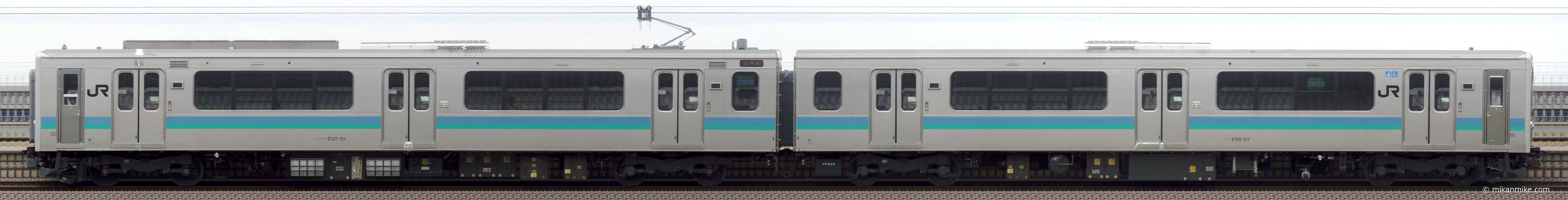 E127系A1編成 機器更新 出場試運転 側面画像