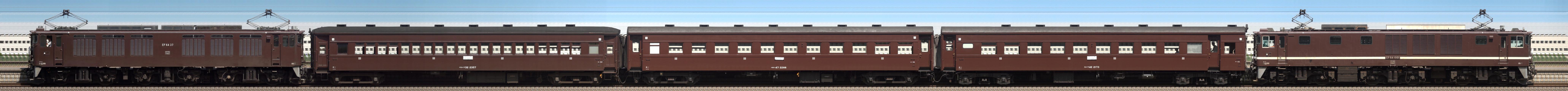 2016-07-23-EF64-37 旧客3B EF64-1001 列車サイドビュー